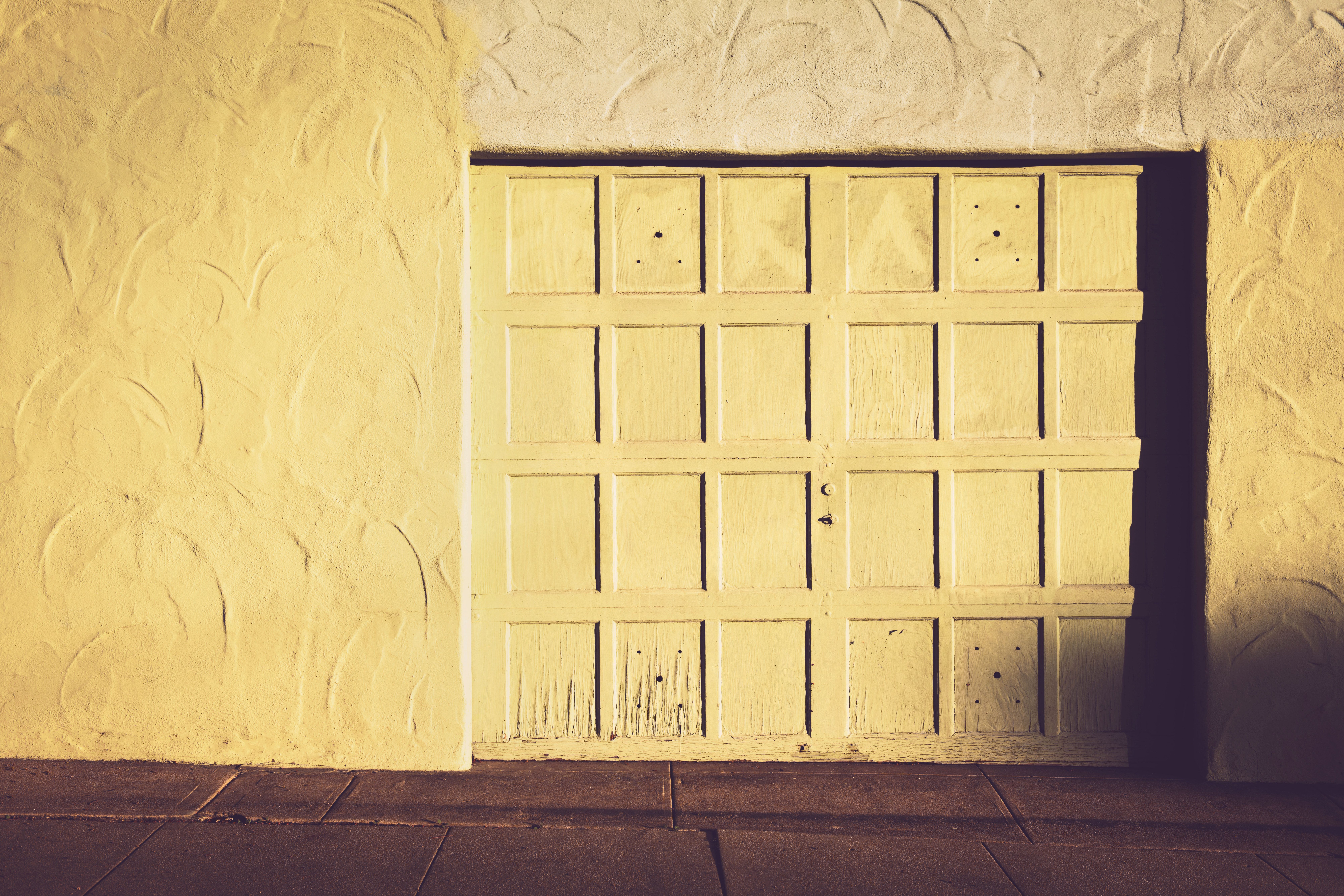 old simple garage door